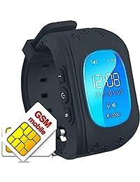 Hangang - Reloj de rastreador GPS para niños, Resistente al Agua, Reloj Inteligente,