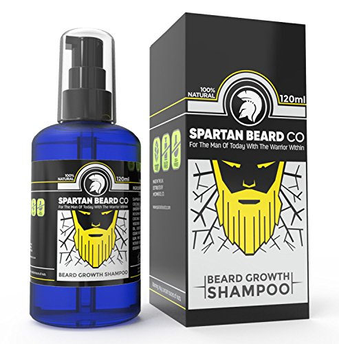 Premium Luxurious Beard Wash, Beard Shampoo by Spartan Beard Co  Made from  99% Natural Ingredients for The Best Beard Care Shampoo  Promotes Healthy