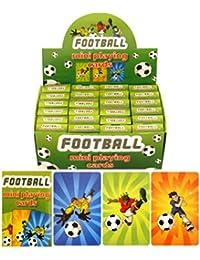 Henbrandt Kinder Mini-Spielkarten mit Fußball-Design, 24er-Pack