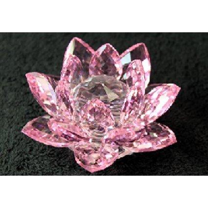 Cristal Lotus 100 mm – Rose. Taille de chaque fleur est d'environ 50 mm de large (Base) 100 mm de large (Fleurs) CE PRODUIT est envoyé par transporteur. Un cadeau parfait – Idéal pour les anniversaires, Noël, etc.