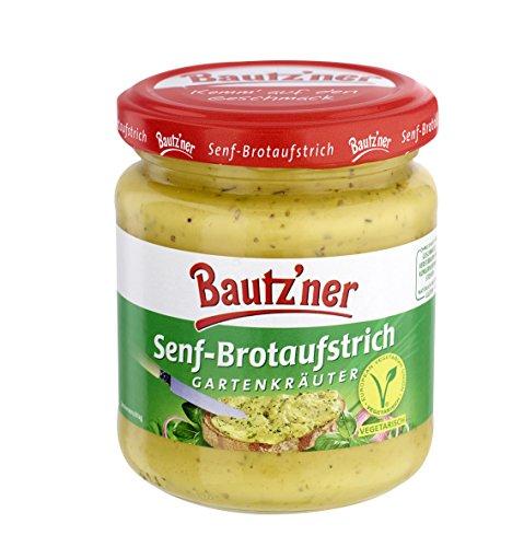 BAUTZ\'NER Senf Brotaufstrich Gartenkräuter, 6er Pack (6 x 200 ml)