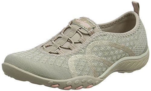 Skechers Breathe Easy-Point Taken, Zapatillas para Mujer, Gris (Grey), 38.5 EU