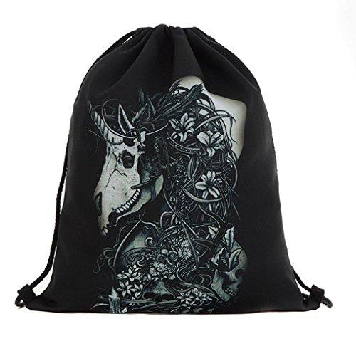 Longra Sacchetto di immagazzinaggio del sacchetto della porta del fascio del sacchetto del drawstring di Halloween A