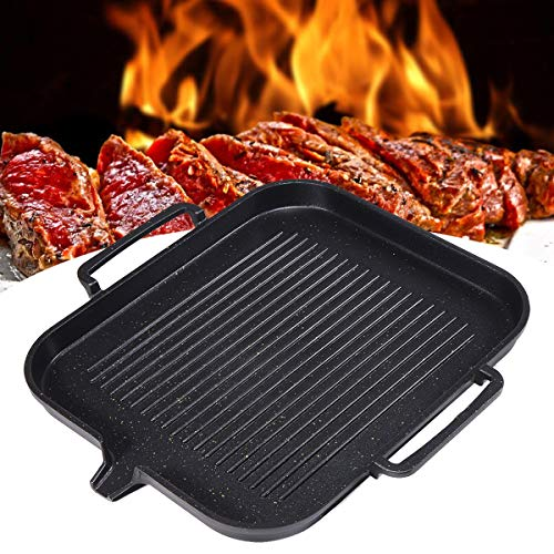 Pinkfishs 2-4 Menschen BBQ Barbecue Aluminum Frying Grill Pan Plate Non Stick Coating Cookware Induktionskochen -