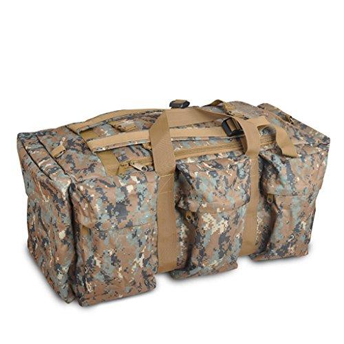 AMOS Borsa portatile di spalla portatile di grande capacità all'aperto uomini e donne Borsa del sacchetto di spalla borsa di viaggio del sacchetto di viaggio Sacchetto di viaggio zaino ( Colore : CP c Jungle camouflage