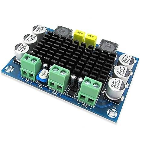 Kissing U Junta de Control del Módulo Tablero del Amplificador Estéreo TPA3116D2 100W Mono Audio Digital Power DC 12-26V Amplificador de Potencia de los