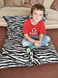 KOSIKUSH® EXTRA LARGE SPARE COVER ONLY For Our Floor Cushion, Lounger, Like Beanbag, Bean Bag (ZEBRA FLEECE)
