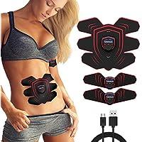 Tobbiheim EMS Muskelstimulator, EMS Trainingsgerät USB Wiederaufladbar Bauchmuskel Trainer 20 Trainingsstufen Einstellbar Elektrische Stimulation Fitnessgerät für Herren und Damen