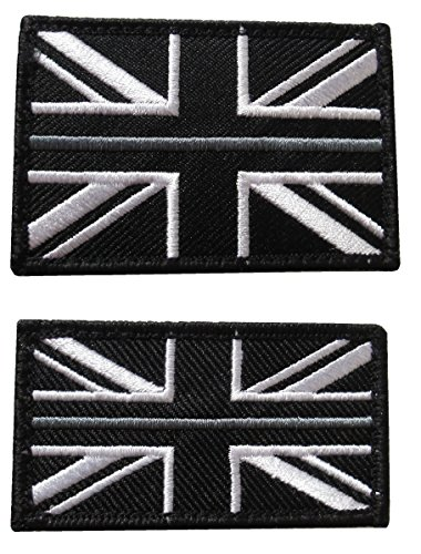 Thin Silver Line HM Prison Service Union Jack Badge Patch TRF HMP Hook & Loop
