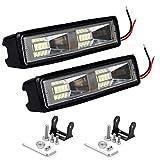 AllExtreme EX16FL2 16 LED Bar 6 inch Off Road Driving Lights Spot Beam