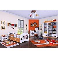 """Preisvergleich für naka24 6 -teiliges Set Jugendzimmer Kindermöbel Zimmermöbel Formel 1"""" mit Kinderbett"""