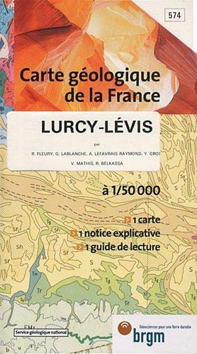 Carte géologique : Lurcy-Levis