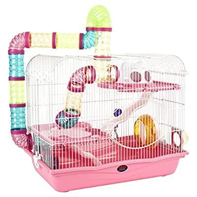 Little Zoo Henry Cage, Pink by Sky Pet Products