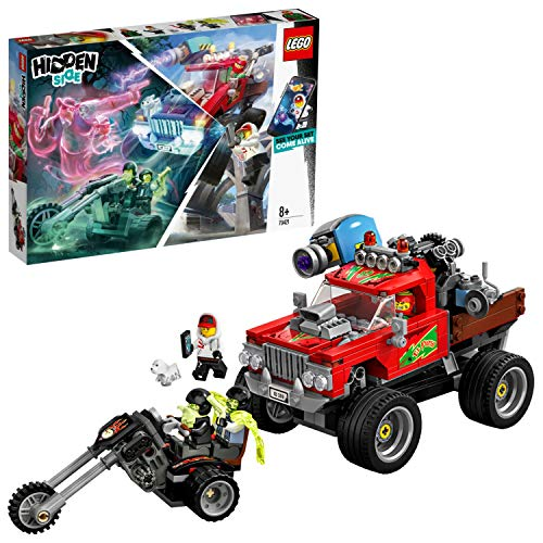 LEGO Hidden Side 70421 El Fuego's Stunt Truck Construction Set, AR Lego Games with Lego app, Toys for 8 Years Old Boys and Girls, Interactive Augmented Reality Ghost Playset with 4 minifigures Best Price and Cheapest