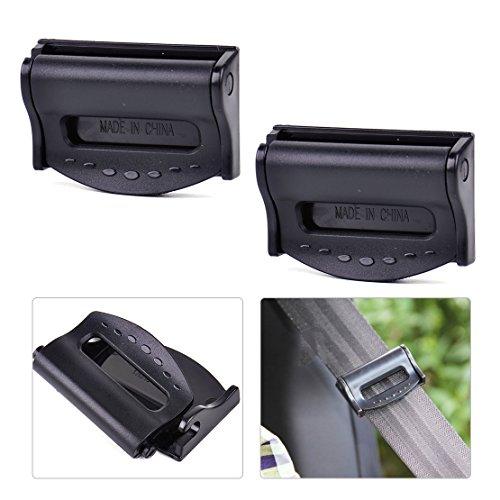 beler 2Universal Auto Sitz Sicherheitsgurt Strap Adjuster Clip Clamp Hals Schulter Komfort Stopper verstellbar Schnalle