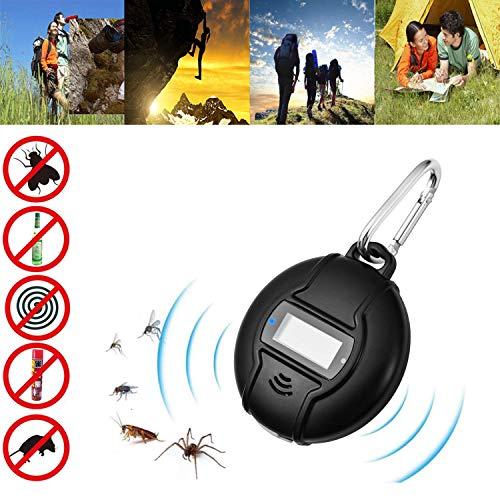 Buycitky Repellente Ultrasuoni Repellente Zanzare Pest Reject Insect Pest Repeller ultrasonico Controllo dei parassiti di Human Pet Friendly Repellente per Zanzara, Scarafaggio, Ragno, Cimici by