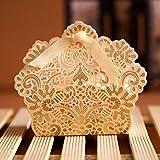 50 STÜCKE Champagner Gold Romantische Rose Hochzeit Gunsten Favor Süße Kuchen Geschenk Süßigkeitskästen Tischdeko