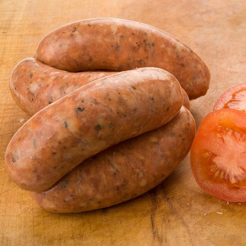 Mountain's Boston Pork, Sun-Dried Tomato & Basil Sausage - 4 x 6 pack (approx 1.8kg)