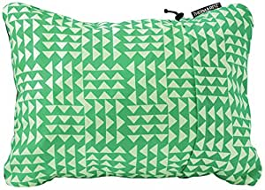 Thermarest Compressible Travel Pillow - Green/White, Small / Camping Camp Sleeping Sleep Cushion Comfortable Comfort Head Compact Resting Rest Sport Outdoor Travelling Travel Backpack Rucksack Tent Accessories