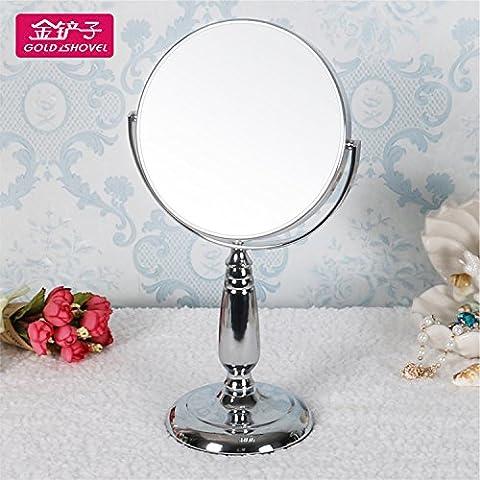 Desktop europeo a doppia faccia specchio per il trucco carino portatile e pieghevole Principessa Specchio specchio - Principessa Pieghevole Tavolo
