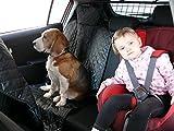 hochwertige Hundedecke mit Reißverschluß Autoschutzdecke Auto Schutzdecke Hunde 140x200cm schwarz