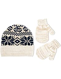 ABG Accessories Baby Fairisle Cuffed Acrylic Knit Winter Hat with Matching  Mitten Set e7be3364a20d