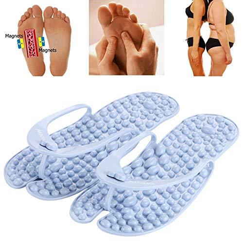 Ciabatte massaggianti - Sandali - Scarpe da Spiaggia e Piscina Adulto, Sandali Che massaggiano Il Piede seguendo i principi della riflessologia Giapponese,37~39