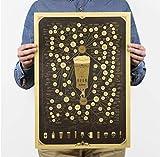 Yirenfeng Bier der Figur, tun Sie, was Ihnen gefällt Motivations-Poster Retro-Poster Papierverzierung Bildposter für Wände Aufkleber