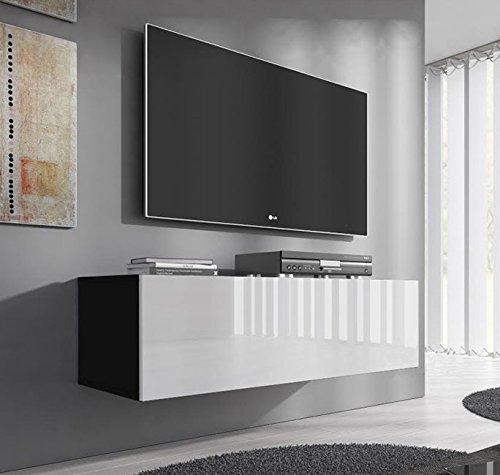 Lettiemobili – Mobile TV modello Forli M (100 cm) nero e bianco