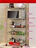 Küchenmöbel-WXP Küche Regale Microwelle Ofen Rack Landing Edelstahl Topf Rack Küche Zubehör Zulassung Lagerung Rack (Fünf Ebenen) WXP-Küchenschränke und Besteckschränke ( Farbe : #1 , größe : 50 cm )