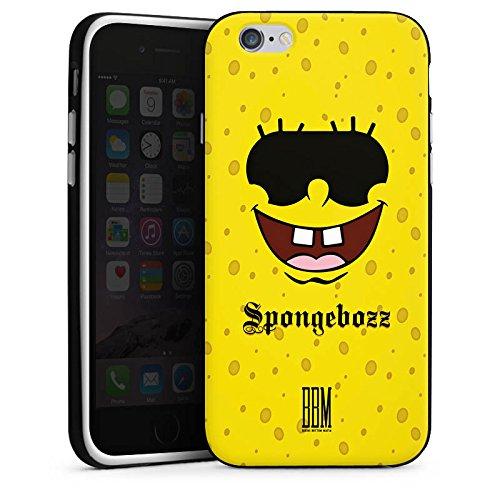 Apple iPhone X Silikon Hülle Case Schutzhülle Spongebozz BBM Fanartikel Merchandise Silikon Case schwarz / weiß