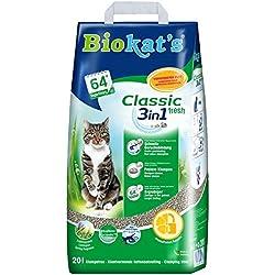 Biokat's Arena para Gatos Classic Fresh 3 en 1 con Fragancia Primaveral 20 L