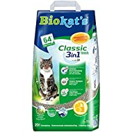 Biokat's Classic Fresh 3in1 Cat Litter / Absorbent and Odour Binding Clumping Litter with Spring Fragrance / 1 x 20l Bag