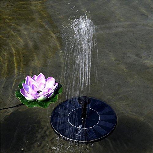 SHIQUNC Kleine Schwimmteich Brunnen Solar Landschaft Höhe 45cm