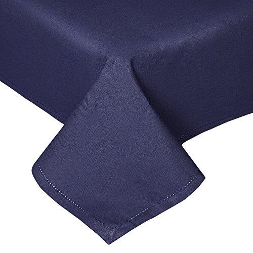 e marine blau unifarben 140 x 180 cm aus 100% reiner Baumwolle, Tischtuch waschbar ()