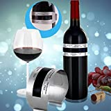 Digital Wein-Thermometer Für Weinflasche, Edelstahl-Gesicht LCD