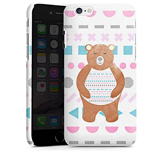 Apple iPhone X Silikon Hülle Case Schutzhülle Bär Muster Bärchen Premium Case matt