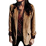 Hanomes Damen pullover, Damen Reine Farbe Anzug Herbst Winter Langarm Mantel Mode Anzüge