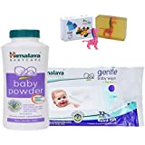 Himalaya Herbals Baby Powder (100g)+Himalaya Herbals Gentle Baby Wipes (72 Sheets) With Happy Baby Luxurious Kids Soap With Toy (100gm)