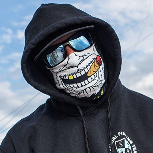 SA Fishing Face Shields ** 40+ Designs verfügbar ** Qualitäts Bandana / Multifunktionstuch / Schlauchtuch / Halstuch aus Stoff & SPF 40 - Face Masks von SA Company, (Gangster Maske)