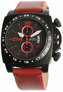 Carbon 14 - A1.2 - Bracelet Homme - Cuir Rouge