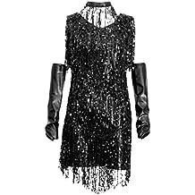 24f9cb74450b MagiDeal Costumi Abiti da Ballo con Frange Di Paillettes Ballerine  Charleston per Donna