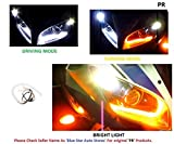 #9: PR Headlight Neon LED DRL Tube Driving White, Turning Yellow Flexible 30cm For All Bike, Scooter Daytime Running Light Bike Motorcycle with and 1 PAIR- For Yamaha Fazer Fi Version 2.0