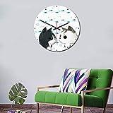 Eewwq Orologio da parete moderno gatto modello casa ufficio camera da letto decorazione acrilico orologio da parete muto senza ticchettio Ø28cm