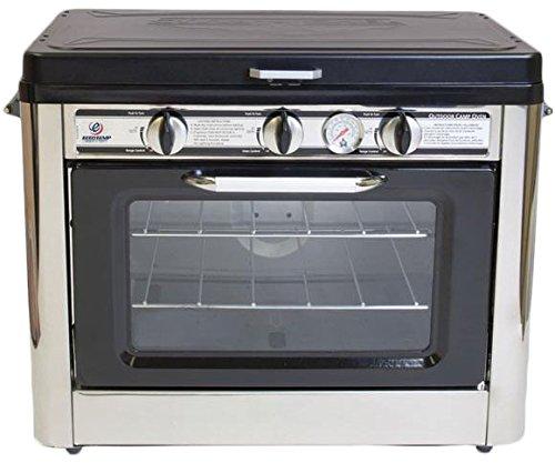 Kleinküche Gas-Backofen 2 Kochstellen Gaskocher Camping Mini-Ofen Gasherd 30mbar