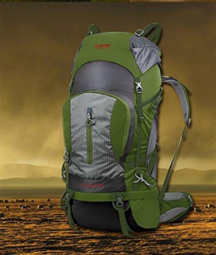 ROBAG All'aperto arrampicata borsa zaino grande borsa a spalla New Pack 80 l , red army green