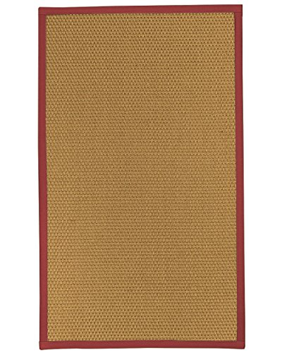 NaturalAreaRugs Carlton Sisal Teppich Bereich Modern 8' x 10' rot - Bereich 8x10 Teppich