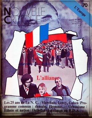 NOUVELLE CRITIQUE (LA) [No 71] du 01/02/1974