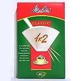 Melitta M30399 - Papel filtro cafetera melitta 1x2