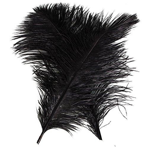 ndel von 100PCS Strauß Federn Hochzeit 30,5–35,6cm 30–35cm (schwarz) (Galaxy Großhandel)